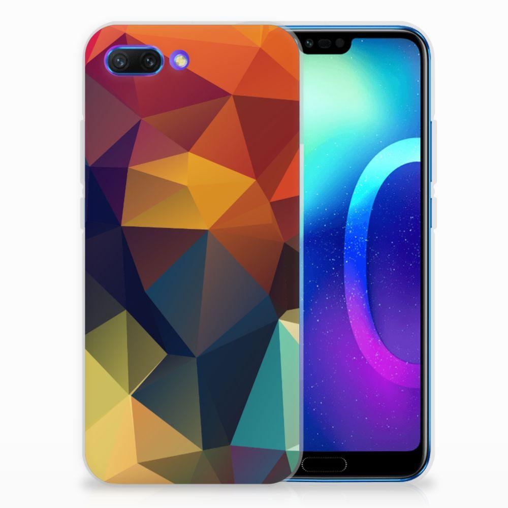 Huawei Honor 10 TPU Hoesje Design Polygon Color