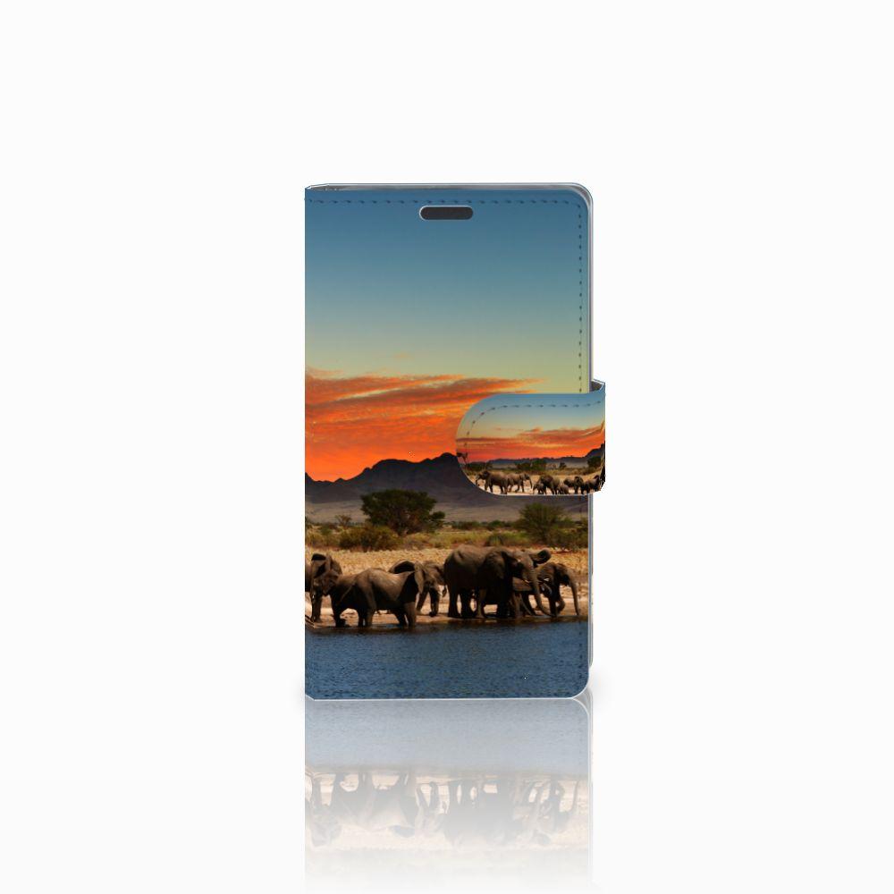 Nokia Lumia 625 Uniek Boekhoesje Olifanten