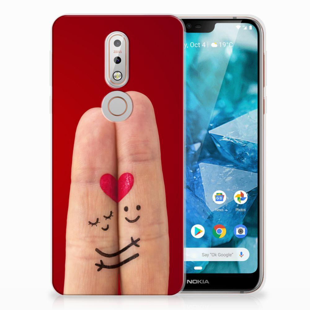 Nokia 7.1 Uniek TPU Hoesje Liefde