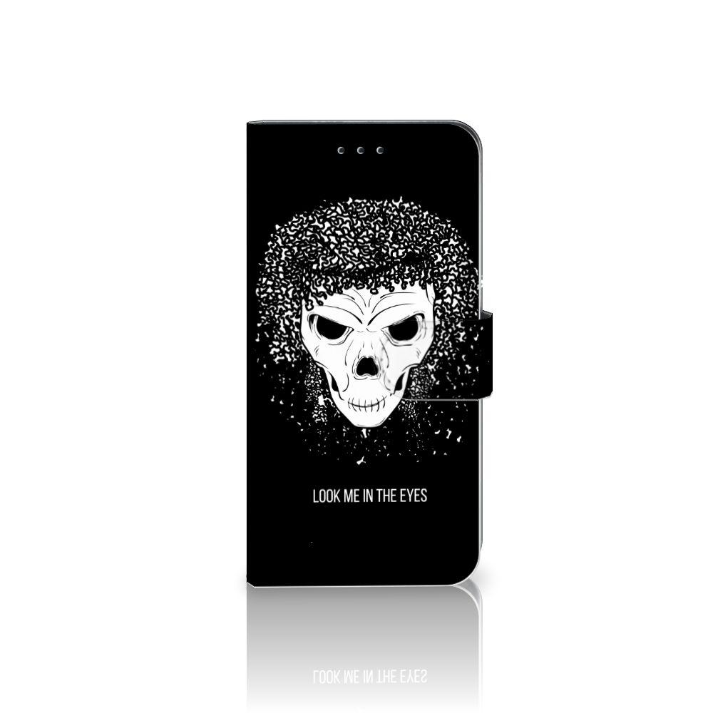Nokia 7.1 Uniek Boekhoesje Skull Hair