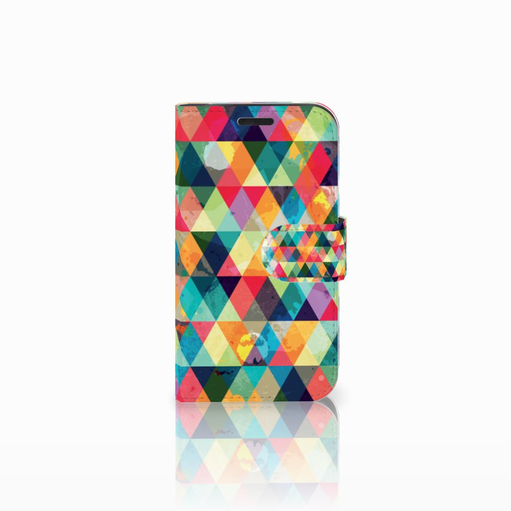 B2Ctelecom LG K4 Uniek Boekhoesje Geruit