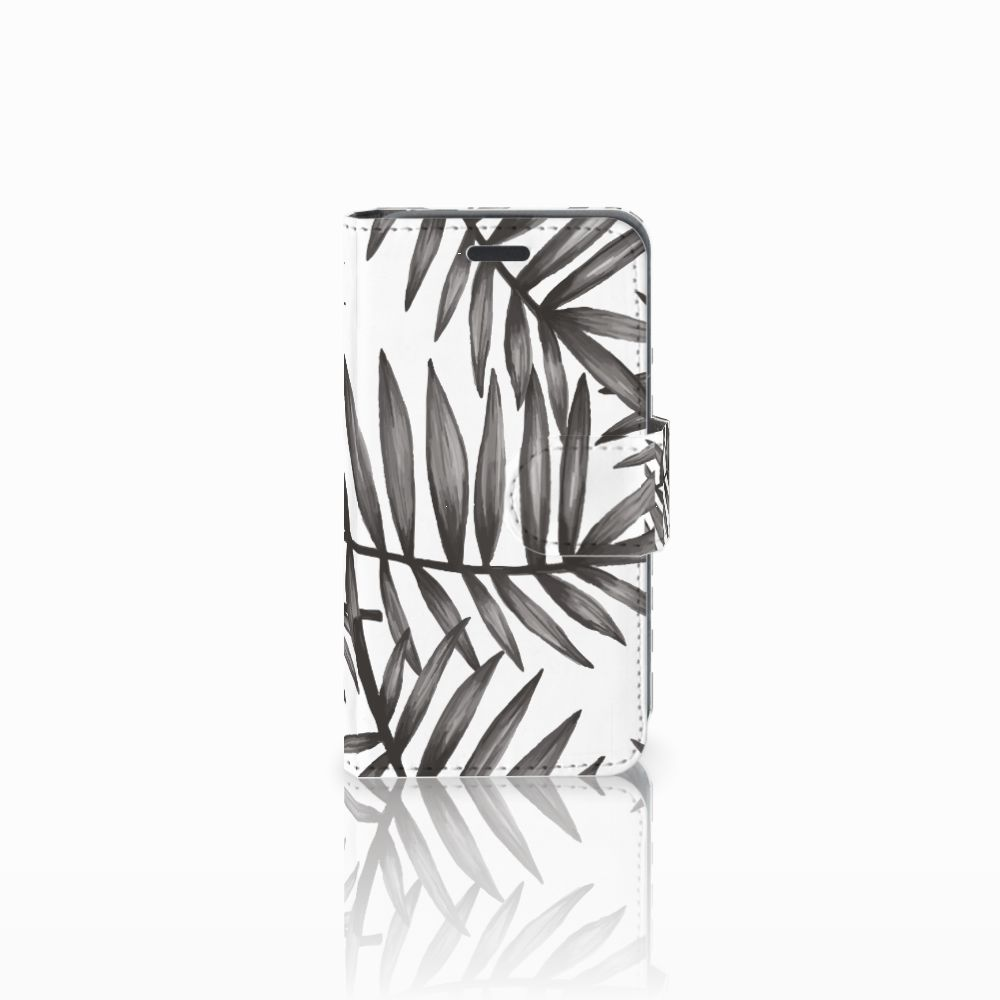 Nokia Lumia 520 Uniek Boekhoesje Leaves Grey