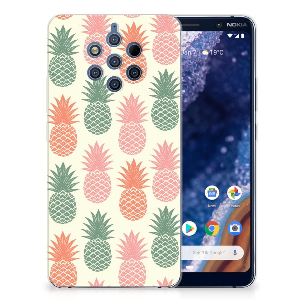 Nokia 9 PureView Siliconen Case Ananas