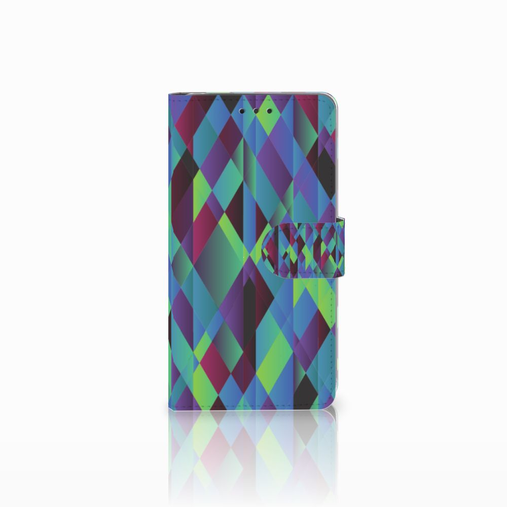 LG G4 Bookcase Abstract Green Blue