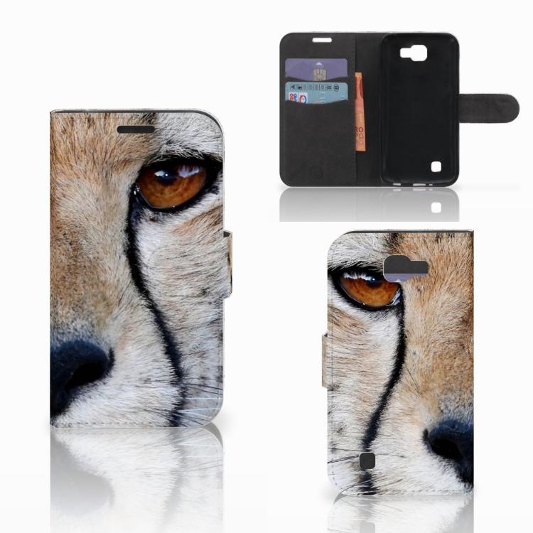 LG K4 Telefoonhoesje met Pasjes Cheetah