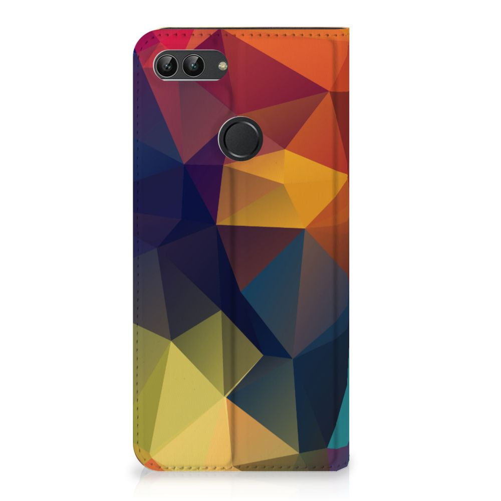 Huawei P Smart Standcase Hoesje Design Polygon Color
