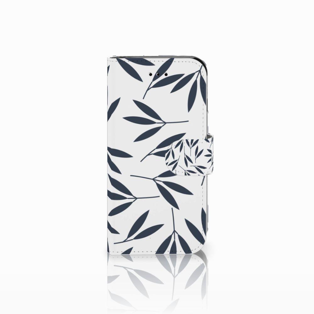 Apple iPhone 6 | 6s Boekhoesje Design Leaves Blue