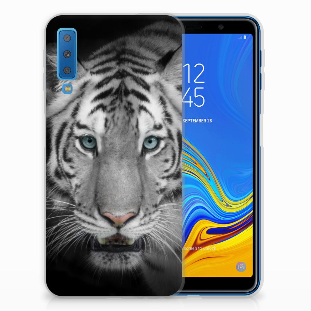 Samsung Galaxy A7 (2018) Leuk Hoesje Tijger
