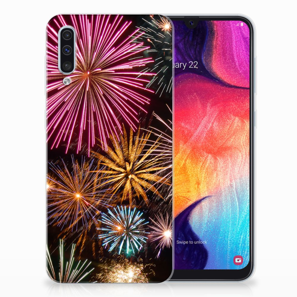 Samsung Galaxy A50 Silicone Back Cover Vuurwerk