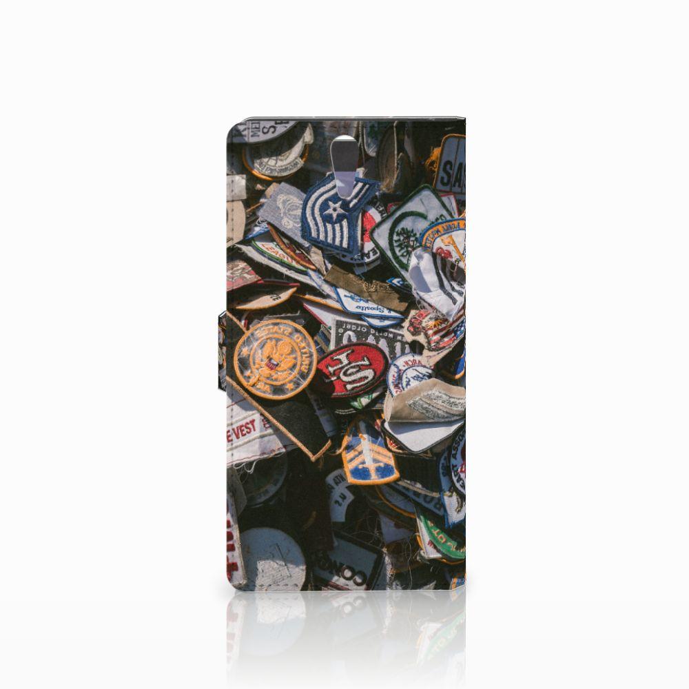 Sony Xperia C5 Ultra Telefoonhoesje met foto Badges