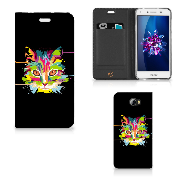 Huawei Y5 2 | Y6 Compact Magnet Case Cat Color