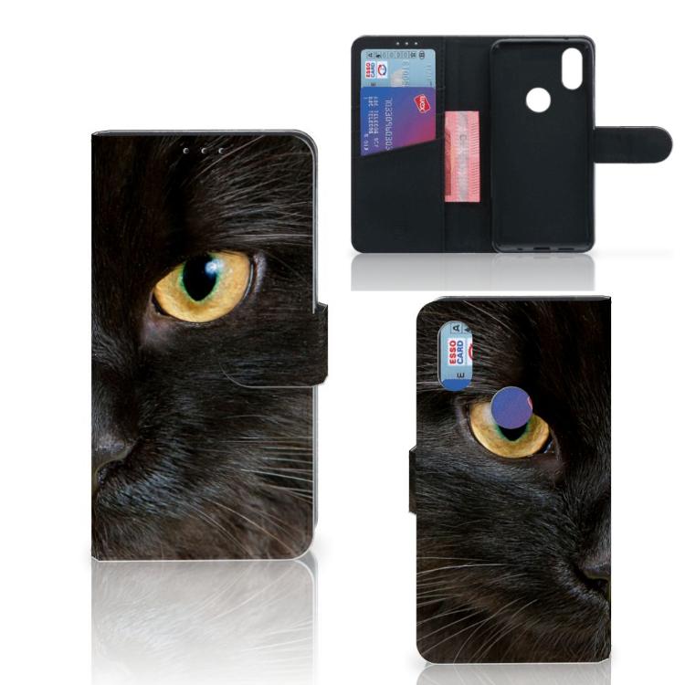 Xiaomi Mi Mix 2s Telefoonhoesje met Pasjes Zwarte Kat