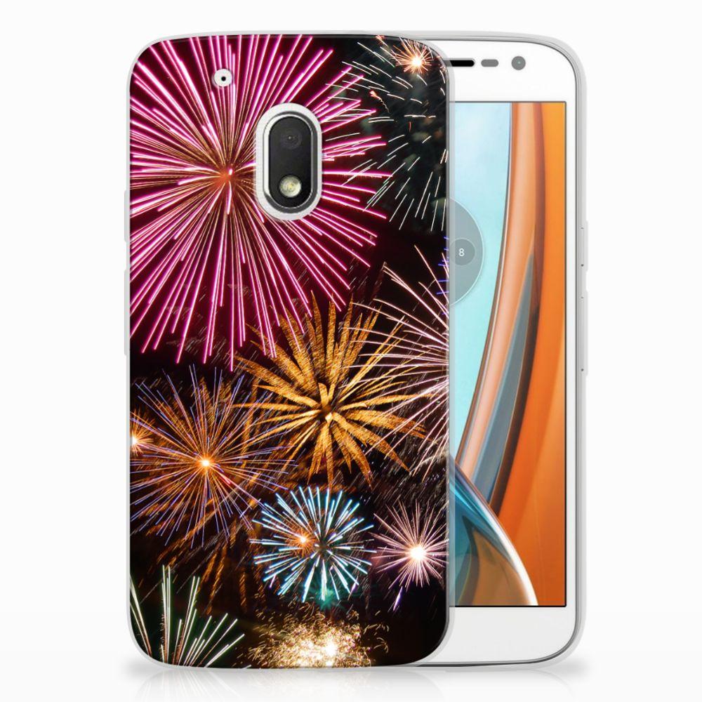 Motorola Moto G4 Play TPU Hoesje Design Vuurwerk