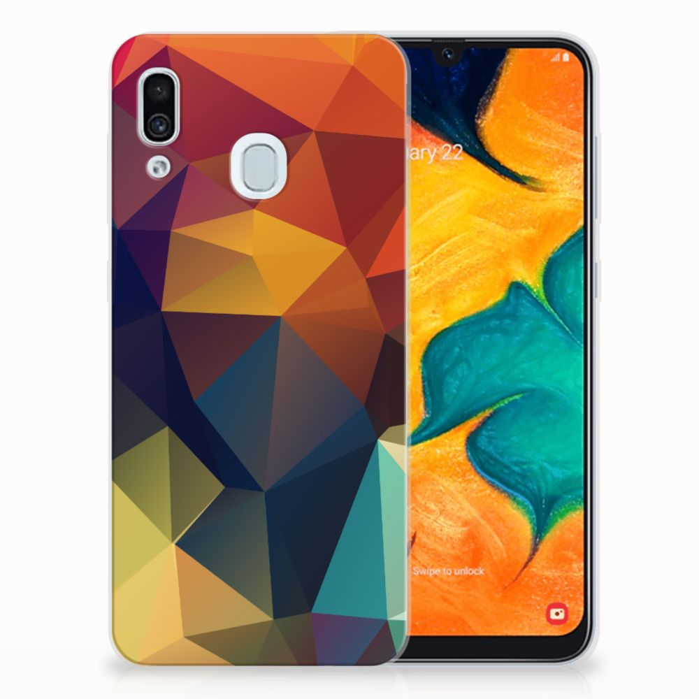 Samsung Galaxy A30 TPU Hoesje Polygon Color