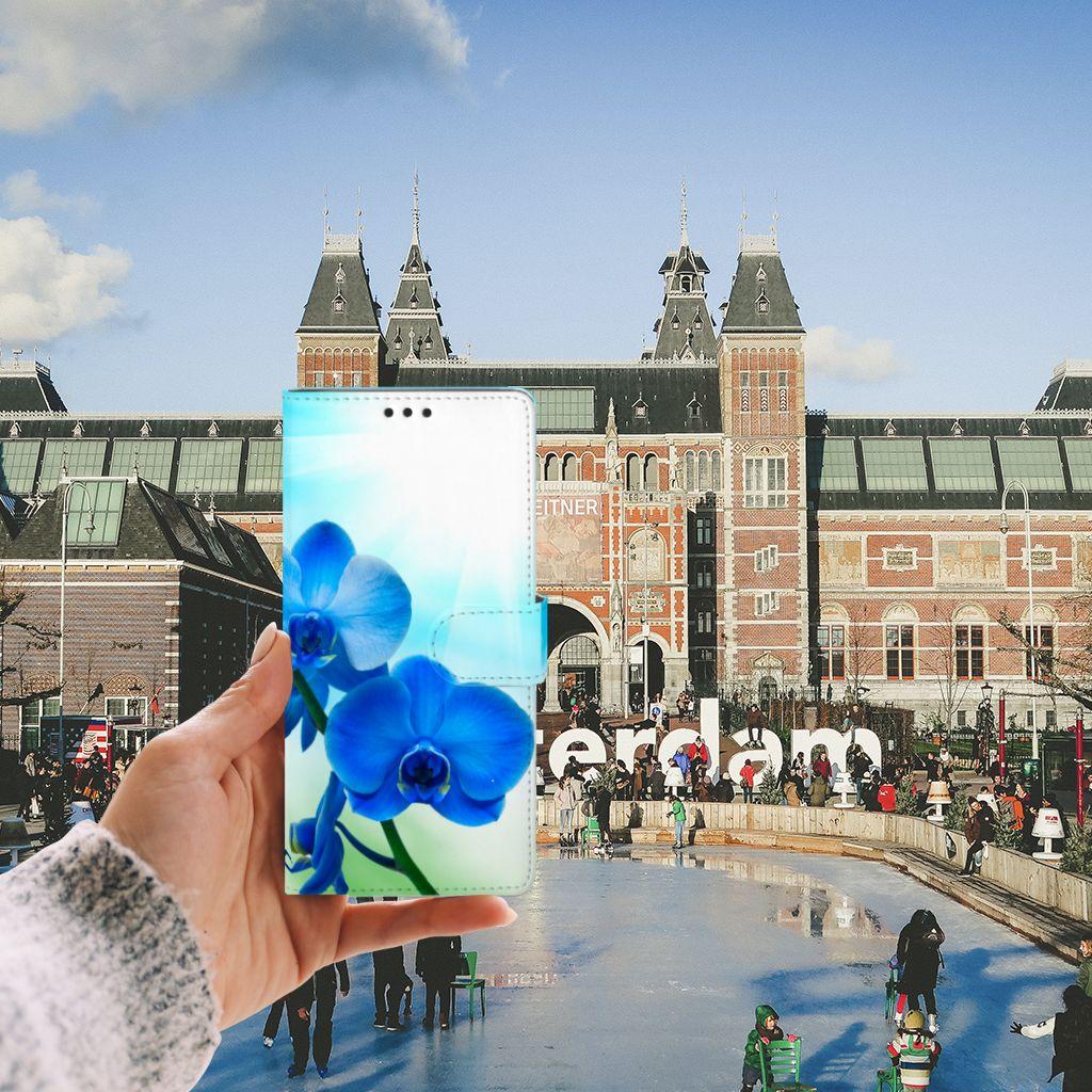 Sony Xperia XA Ultra Boekhoesje Design Orchidee Blauw