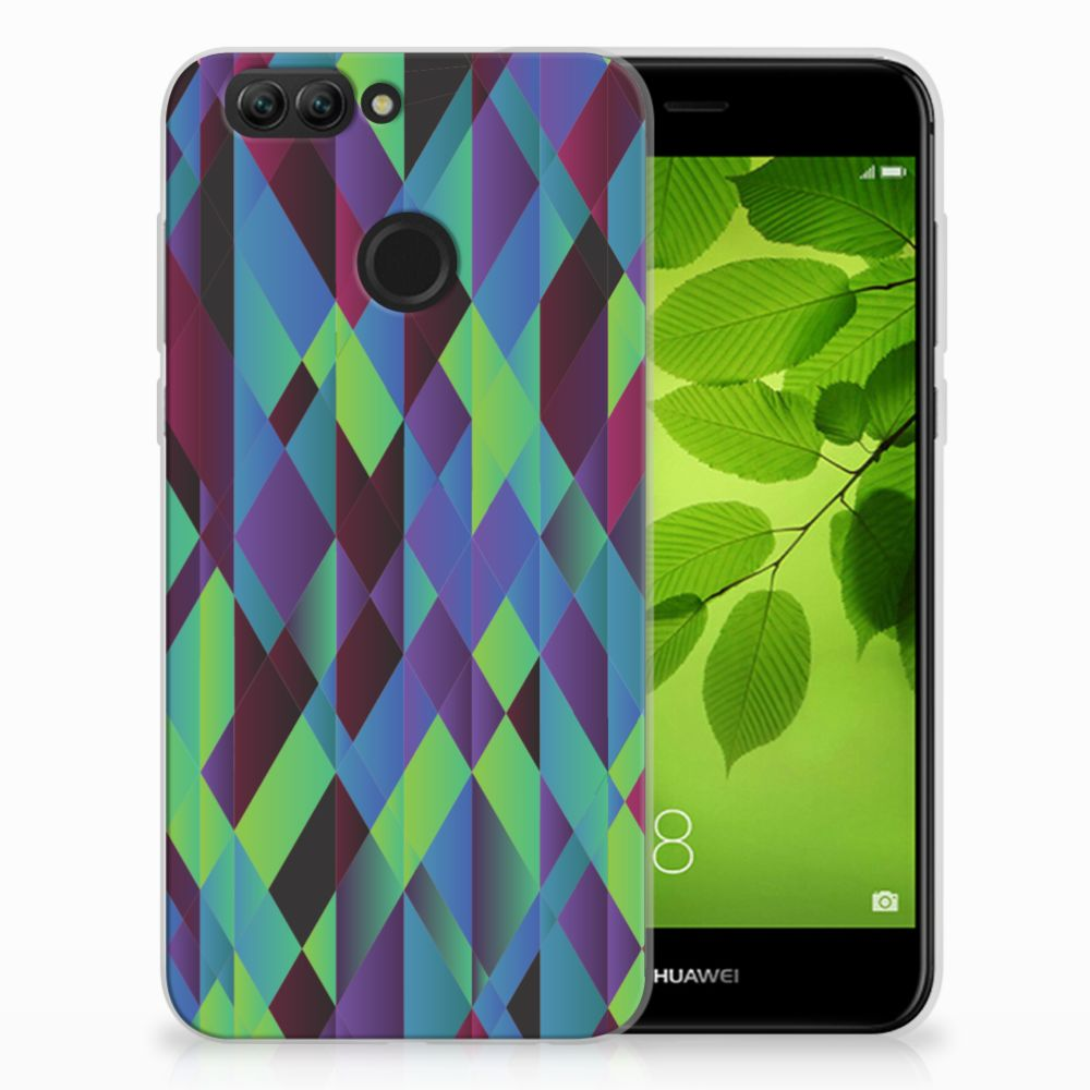 Huawei Nova 2 TPU Hoesje Abstract Green Blue