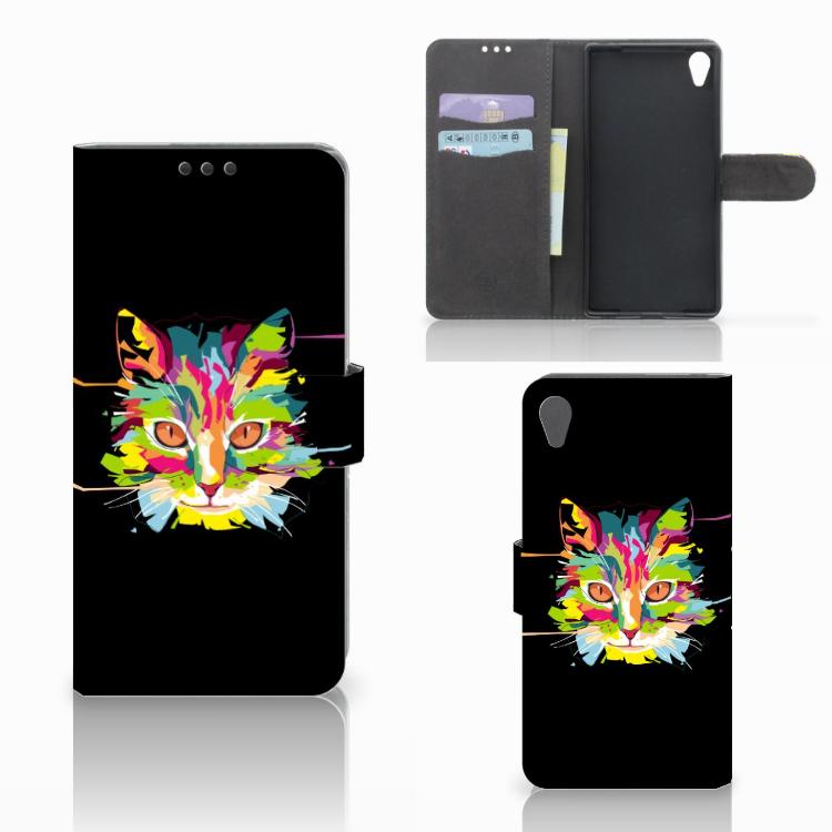 Sony Xperia Z5 Premium Leuke Hoesje Cat Color