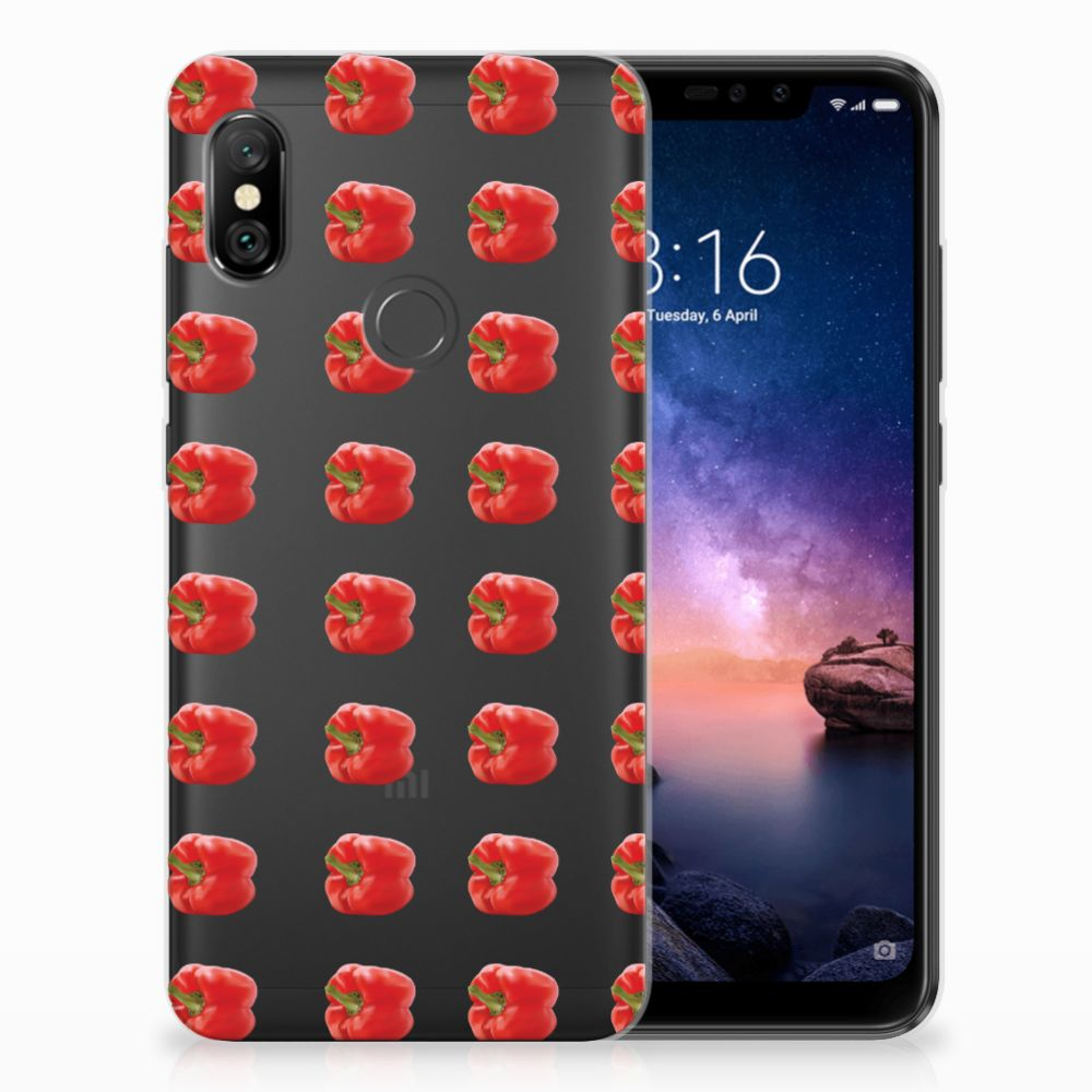 Xiaomi Redmi Note 6 Pro Siliconen Case Paprika Red