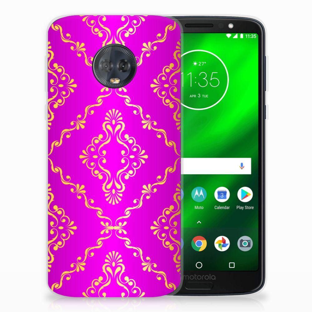 Siliconen Hoesje Motorola Moto G6 Plus Barok Roze