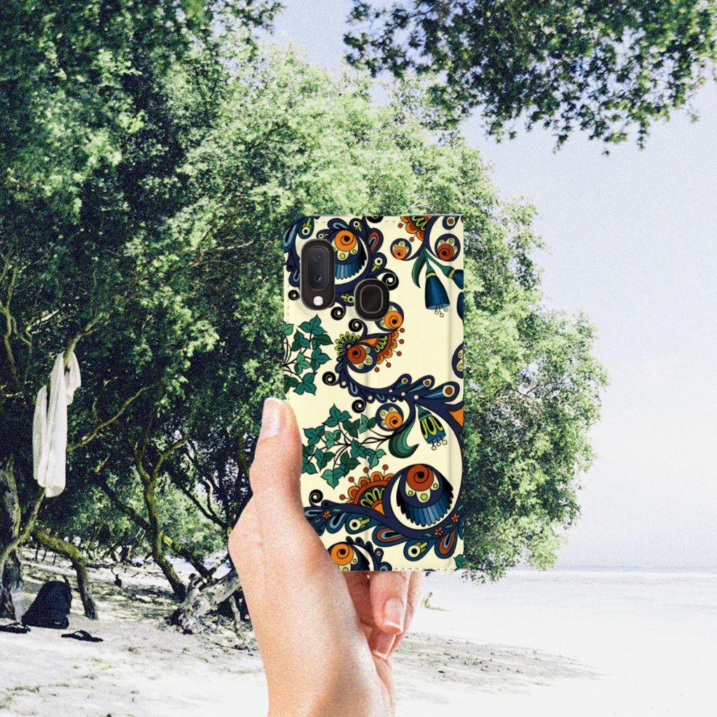 Telefoon Hoesje Samsung Galaxy A20e Barok Flower