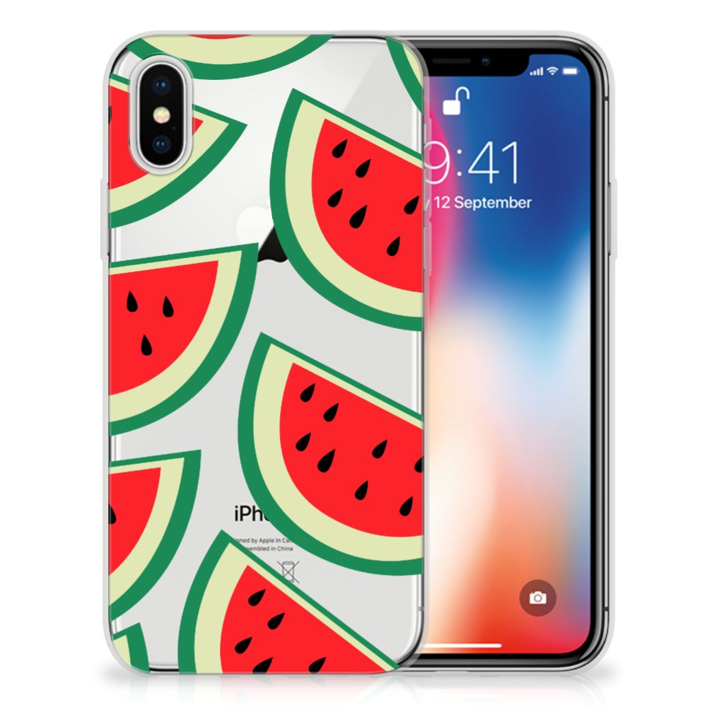 Apple iPhone X | Xs Siliconen Case Watermelons