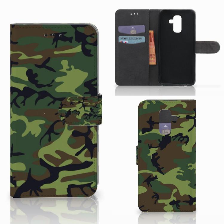 Samsung Galaxy A6 Plus 2018 Telefoon Hoesje Army Dark