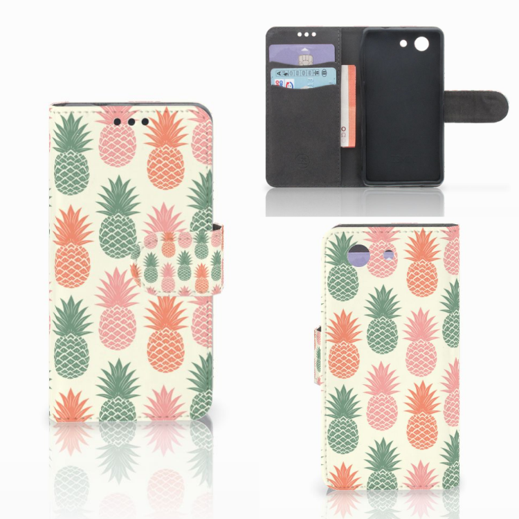 Sony Xperia Z3 Compact Book Cover Ananas