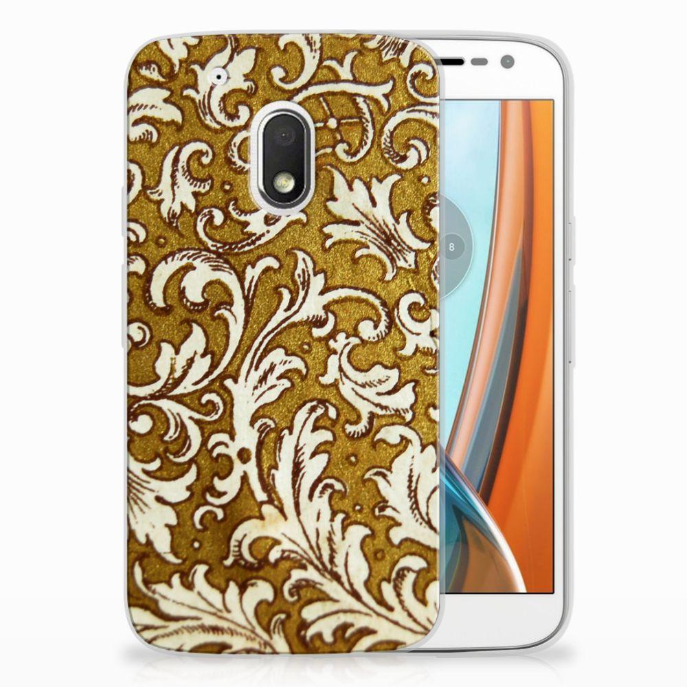 Motorola Moto G4 Play TPU Hoesje Design Barok Goud
