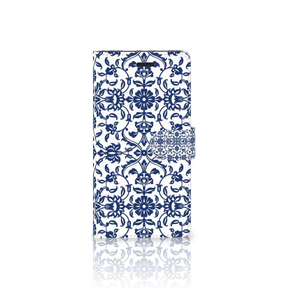 Samsung Galaxy A7 2017 Boekhoesje Flower Blue