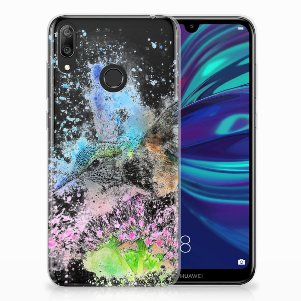 Huawei Y7 2019 TPU Hoesje Design Vogel