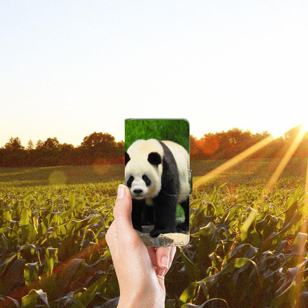 Wiko Lenny 2 Telefoonhoesje met Pasjes Panda