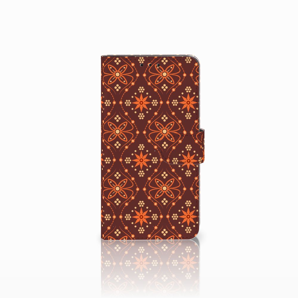 Huawei Honor 6X Uniek Boekhoesje Batik Brown