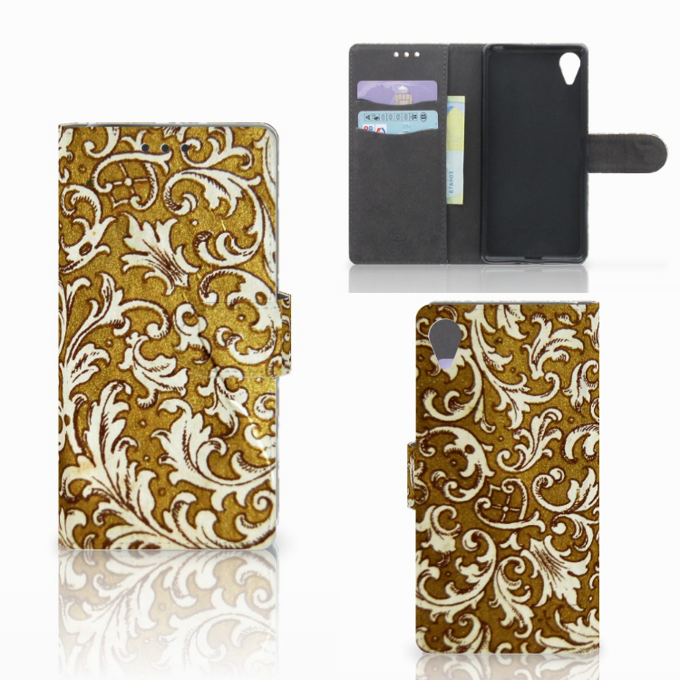 Wallet Case Sony Xperia X Performance Barok Goud