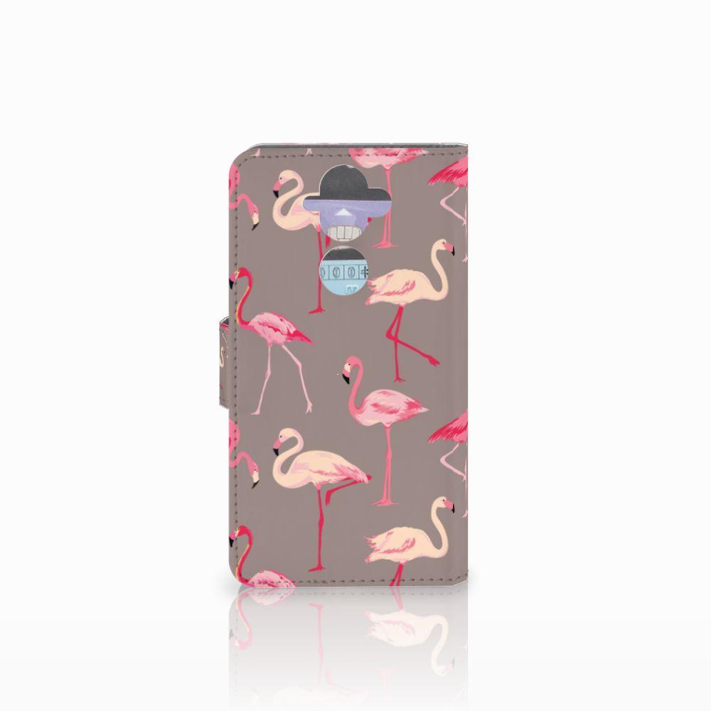 Nokia 8 Sirocco   Nokia 9 Telefoonhoesje met Pasjes Flamingo