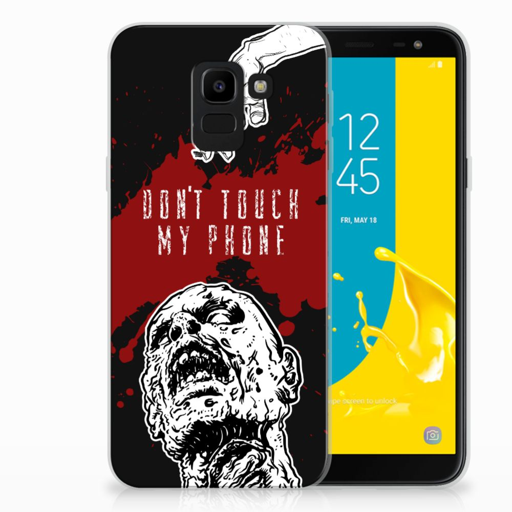 Samsung Galaxy J6 2018 TPU Hoesje Design Zombie Blood