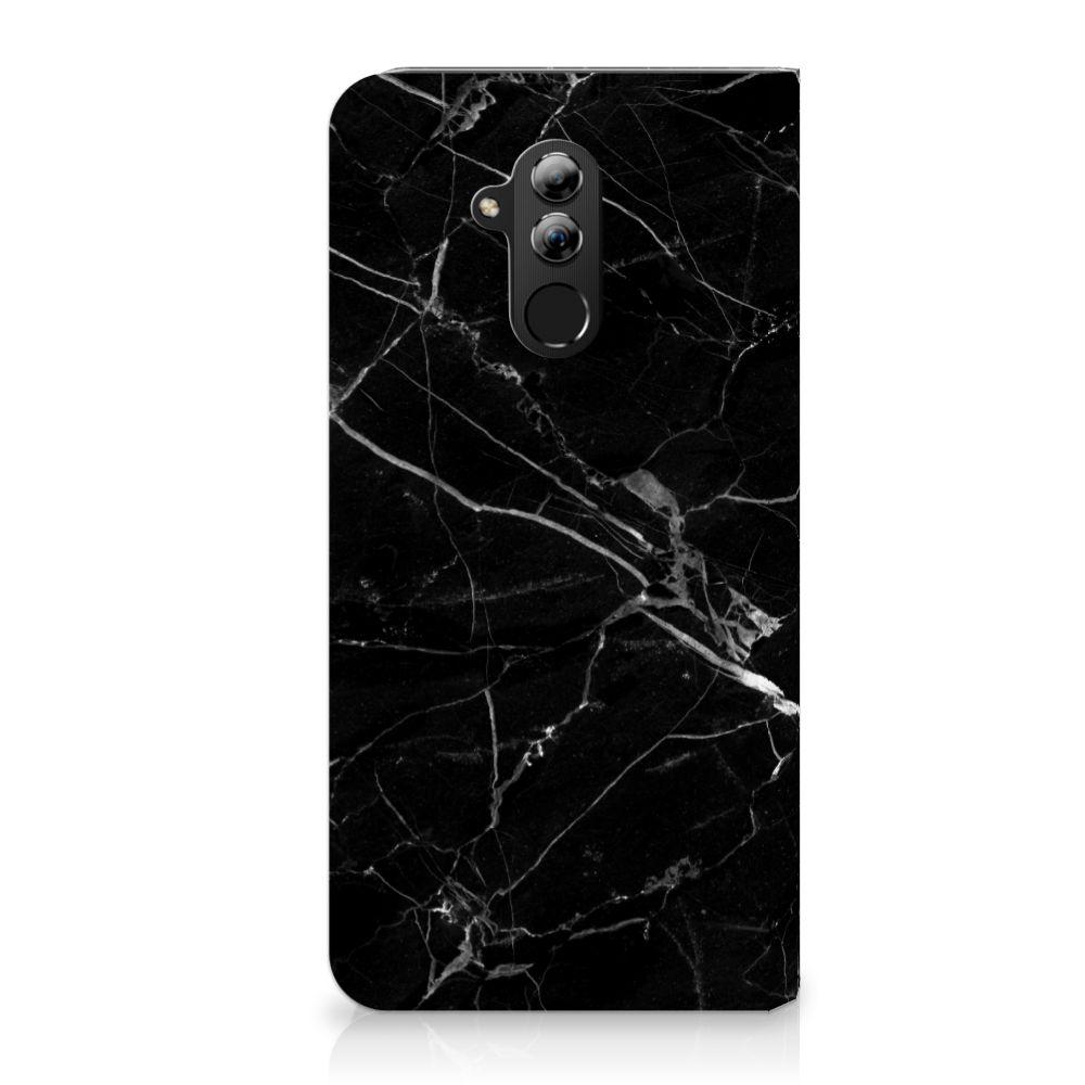 Huawei Mate 20 Lite Uniek Standcase Hoesje Marmer Zwart