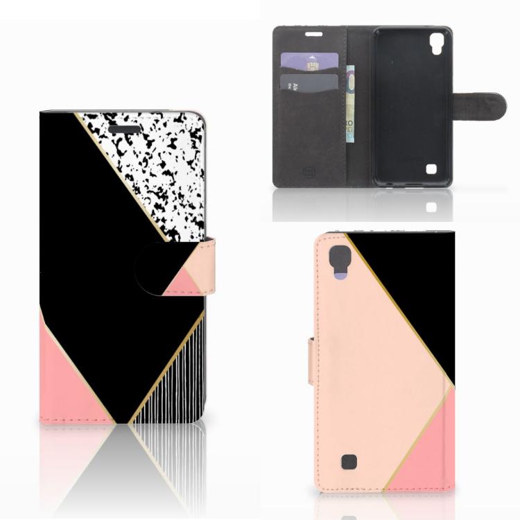 LG X Power Bookcase Zwart Roze Vormen