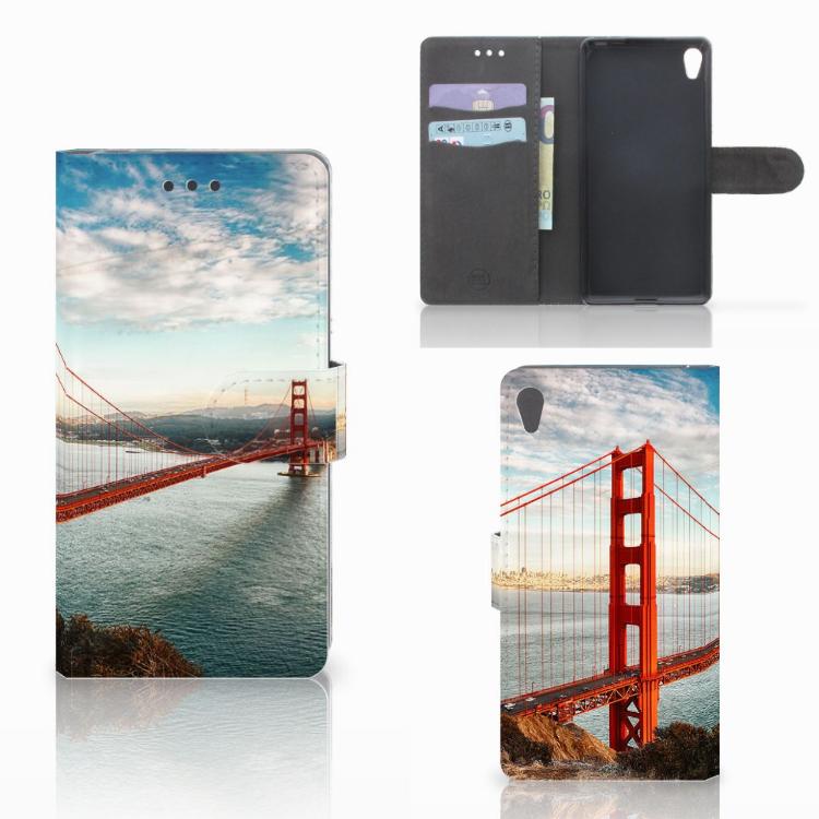 Sony Xperia E5 Flip Cover Golden Gate Bridge