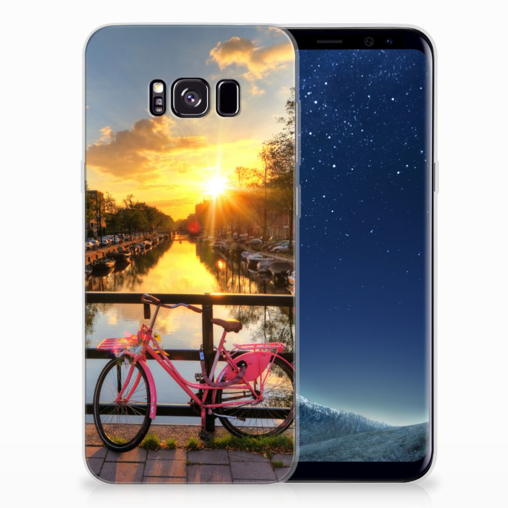 Samsung Galaxy S8 Plus Siliconen Back Cover Amsterdamse Grachten