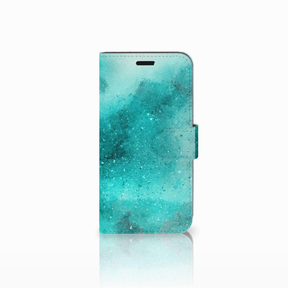 Huawei Nova Uniek Boekhoesje Painting Blue