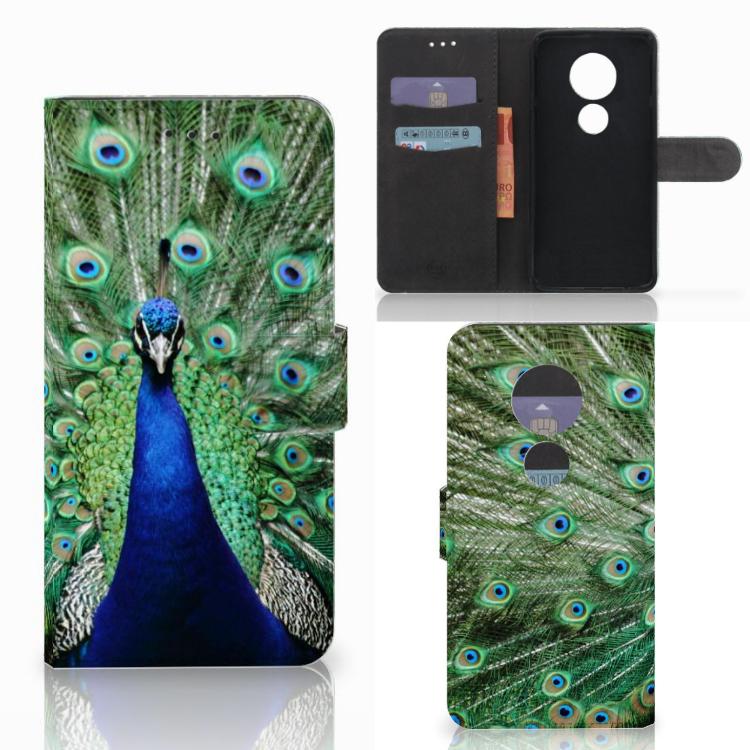 Motorola Moto E5 Play Telefoonhoesje met Pasjes Pauw