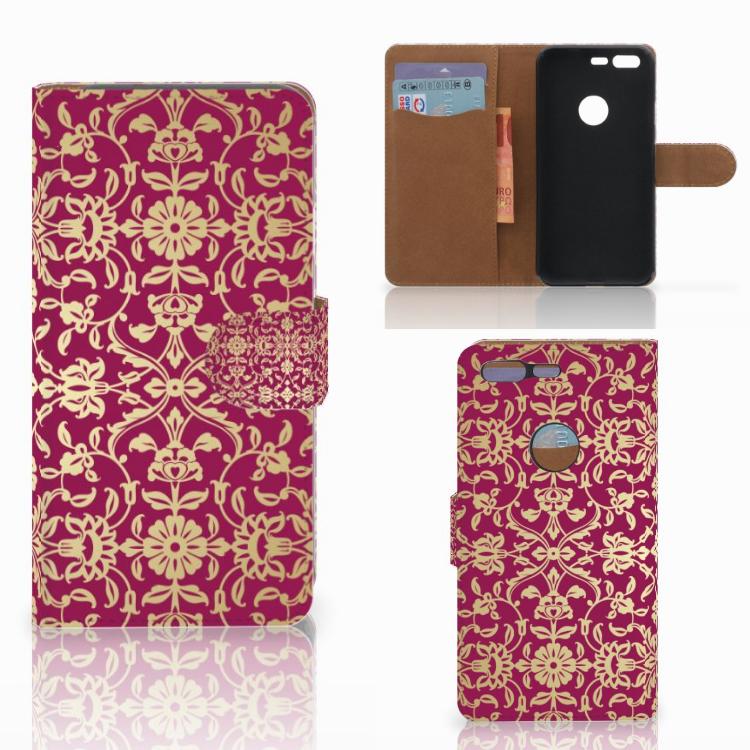 Wallet Case Google Pixel Barok Pink