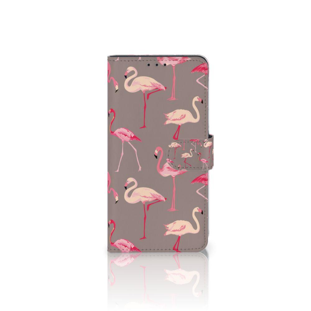 Samsung Galaxy J4 Plus (2018) Uniek Boekhoesje Flamingo