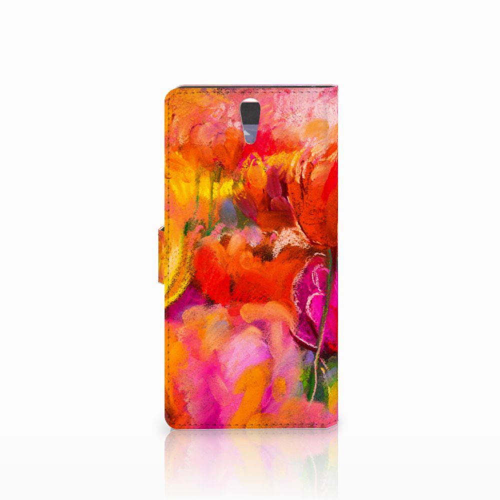 Hoesje Sony Xperia C5 Ultra Tulips