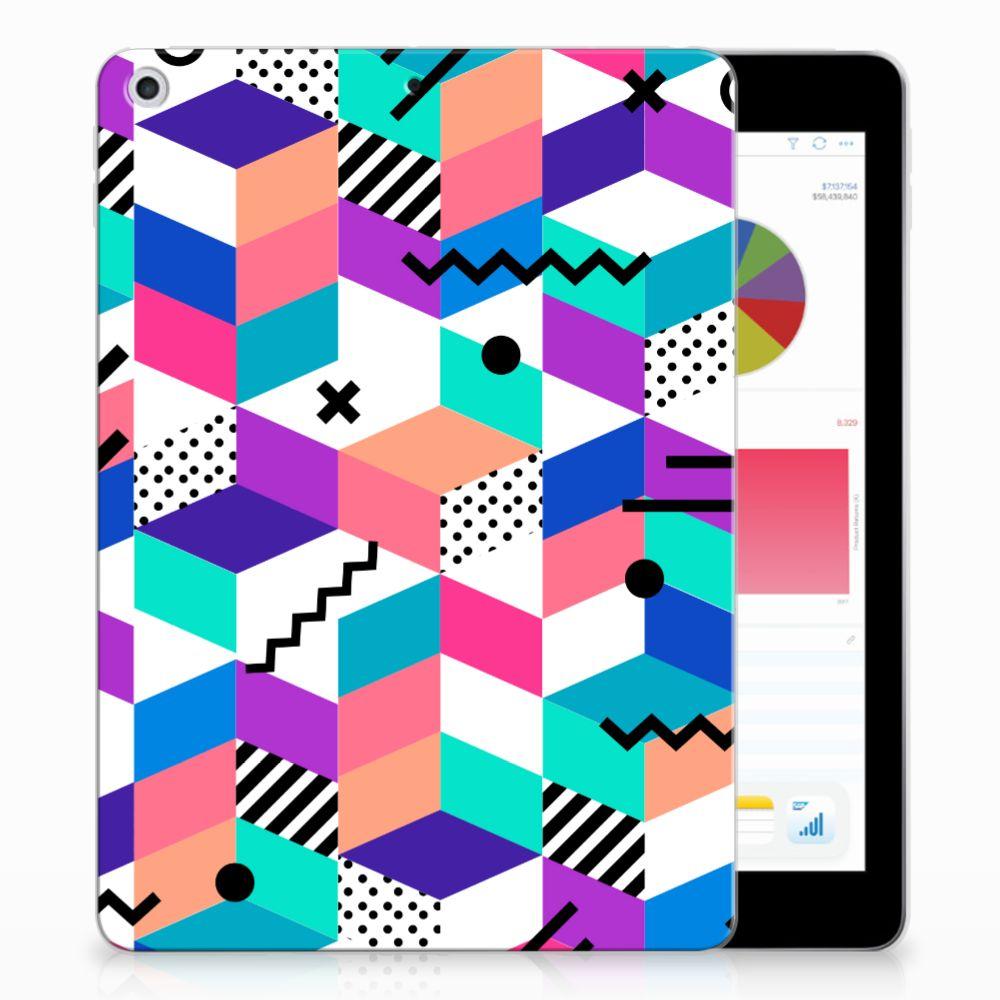 Apple iPad 9.7 2018 | 2017 Back Cover Blokken Kleurrijk