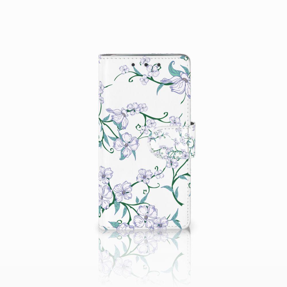HTC One M7 Uniek Boekhoesje Blossom White