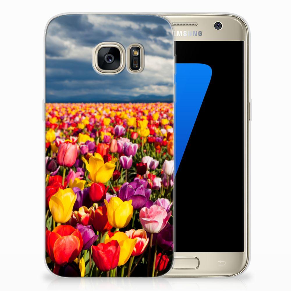 Samsung Galaxy S7 Uniek TPU Hoesje Tulpen