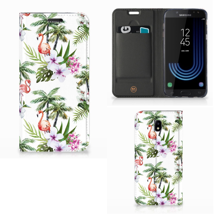 Samsung Galaxy J5 2017 Hoesje maken Flamingo Palms
