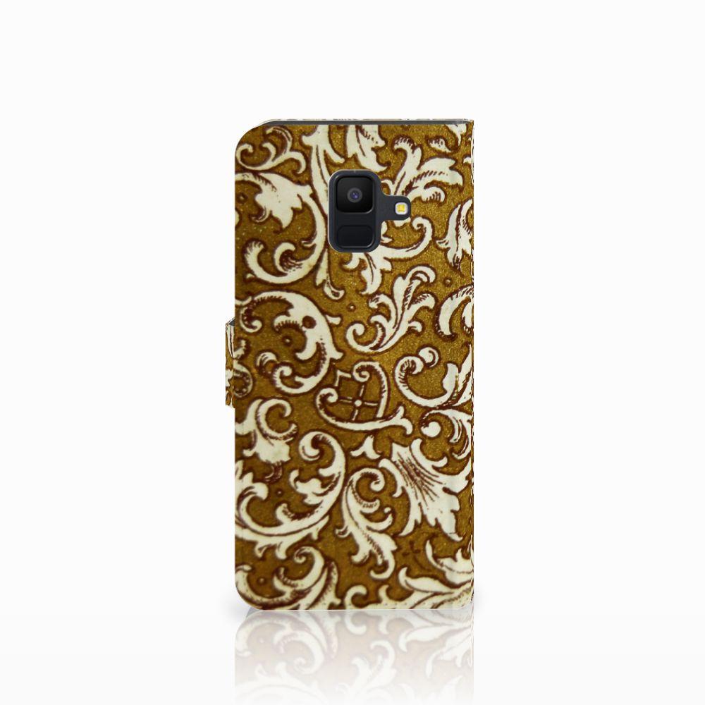 Wallet Case Samsung Galaxy A6 2018 Barok Goud