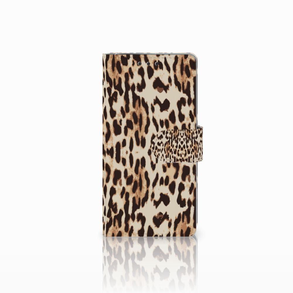 Sony Xperia X Performance Uniek Boekhoesje Leopard